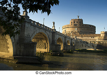 Castle Sant Angelo Rome - Daytime view of the Castle Sant...