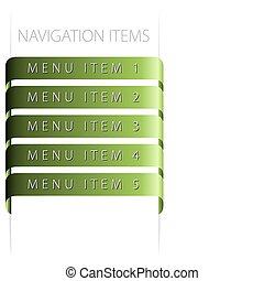 modern navigation items on white background (vector)