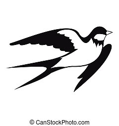 Barn swallow icon, simple style - Barn swallow icon. Simple...