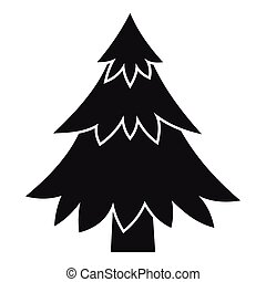 Coniferous tree icon, simple style - Coniferous tree icon....