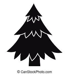 Coniferous tree icon, simple style - Coniferous tree icon....