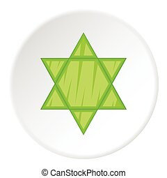 Star of David icon, flat style - Star of David icon. Flat...