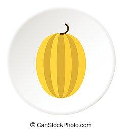 Gooseberry icon, flat style - Gooseberry icon. Flat...