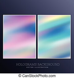 holographic background with bright colors