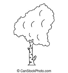 Birch tree icon, outline style - Birch tree icon. Outline...