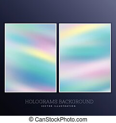 holographic background set with vibrant colors