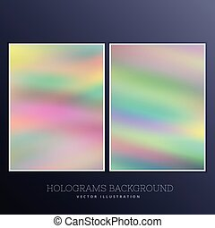 set of holographic background