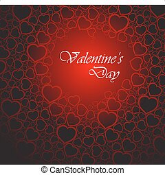 Love vector background made from red hearts (valentine's day...