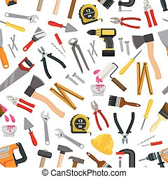 Vector pattern of repair working tools. Vector pattern of...