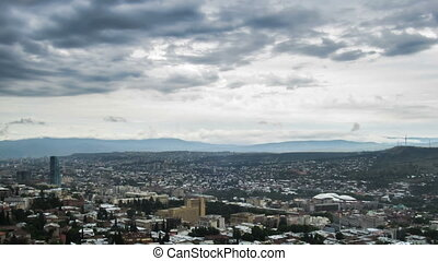 Tbilisi, Georgia. Panoramic View. Time Lapse - Tbilisi,...