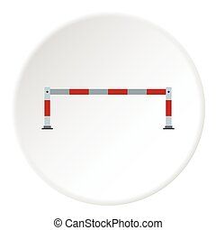 Car barrier icon, flat style - Car barrier icon. Flat...