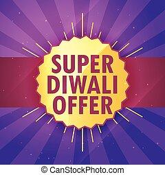 super diwali sale offer design template