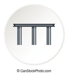 Narrow bridge icon, flat style - Narrow bridge icon. Flat...
