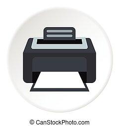 Printer icon, flat style - Printer icon. Flat illustration...
