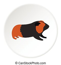Hamster icon, flat style - Hamster icon. Flat illustration...
