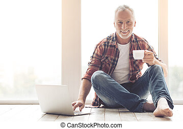 Handsome mature man - Handsome mature businessman in casual...