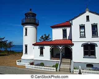 Adniralty Head Lighthouse on Whidbey Island Washington USA