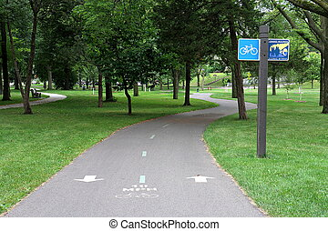 Bike Trail at Dean Parkway - A bike trail in Minneapolis...