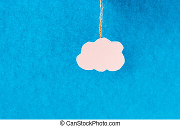 White Cloud - White cloud on a blue background