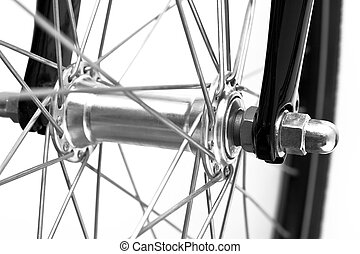 bike detail on white background