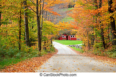 New England fall foliage drive