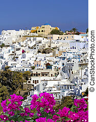 Santorini - View of Oia the most beautiful village of...