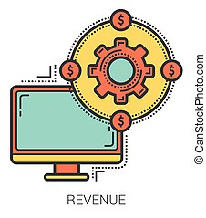 Revenue line infographic. - Revenue infographic metaphor...