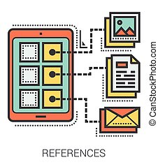 References line infographic. - References infographic...