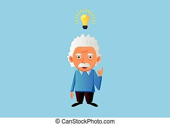 Senior genius man with idea