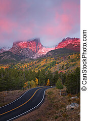 Sunrise on Bear Lake Road in Rocky Mountain National Park