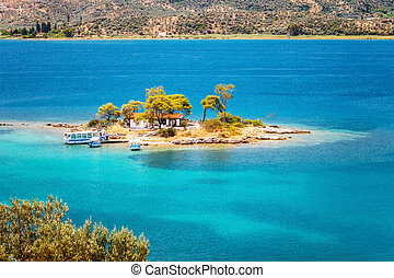 Small island, Greece - Small island in Aegean sea, Greece
