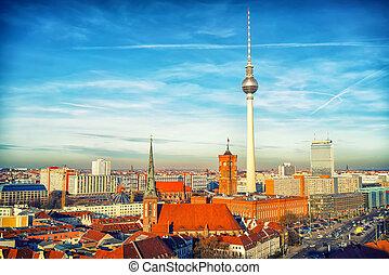 Aerial view on Berlin