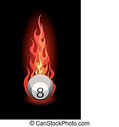 Illustration of a billiard ball - Vector illustration of a...