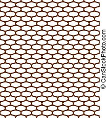pattern metal grille on white background