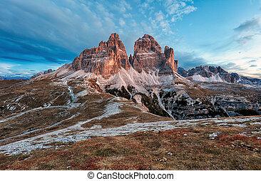 Mountain landscape - Tre Cime di Lavaredo, Dolomites, Italy