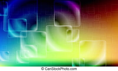 Colorful glossy squares video animation - Colorful glossy...