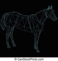 Abstract polygonal horse