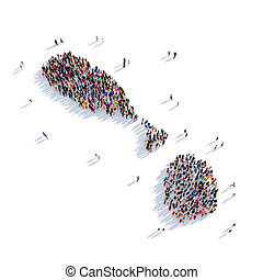 people group shape map Saint Kitts and Nevis - Large and...