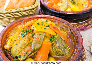 Delicious tajine on the table - Morocco