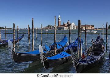 Gondola - San Giorgio Maggiore - Venice - Italy - Gondola...
