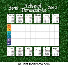 Template school timetable 2016-2017