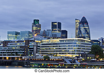 City of London financial district - London skyline seen from...