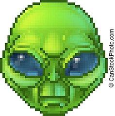 Pixel Art Alien Character