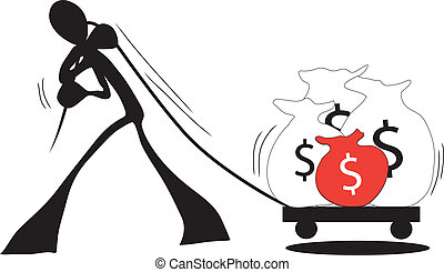 Business shadow man - Illustration shadow man cartoon...