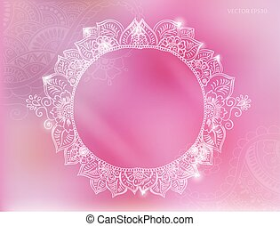 tattoo henna background - Vector round tattoo henna frame....