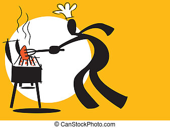 shadow man cooking - illustration shadow man cartoon cooking...
