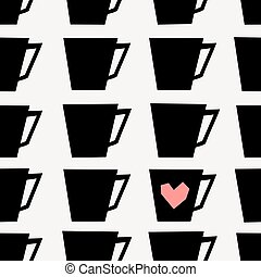 Seamless Coffee Cups Pattern