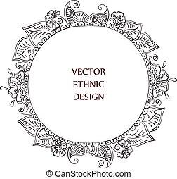 tattoo henna pattern - Vector round tattoo henna frame....