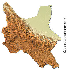 Relief map - Cochabamba (Bolivia) - 3D-Rendering