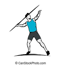 Sportsman javelin thrower